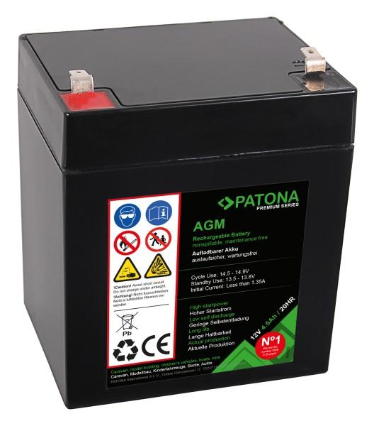 PATONA Premium AGM Blei Akku 12V 4,5Ah 20HR