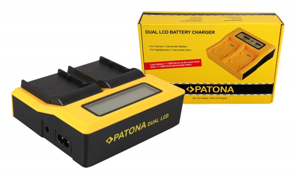 PATONA Dual LCD USB Charger for Canon BP-A30 EOS C200 C200B C200 PL C300 Mark II XF705 CA-CP200L