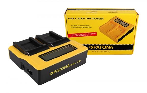 PATONA Dual LCD USB Ladegerät f. Olympus Li-70B FE FE4020 FE-4020 FE4040 FE-4040 FE5040 FE-5040