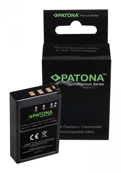 PATONA Premium Battery f. Olympus BLS5 E-P3 E-PL2 PEN E-PL3 E-PM1