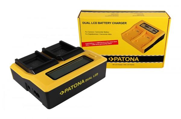 PATONA Dual LCD USB Chargeur pour Casio Panasonic CGA-S007E FNP-70 IA-BH125C Exilim EXZ150