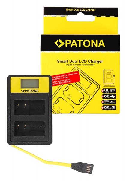 PATONA Smart Dual LCD USB Charger f. Panasonic MW-BLC12PP V-Lux 4 Panasonic DMW-BLC12PP