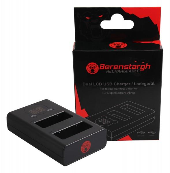 Berenstargh Dual LCD USB Charger f. Panasonic DMW-BLG10 CSBLG10MC CS-BLG10MC DMWBLG10 DMW-BLG10