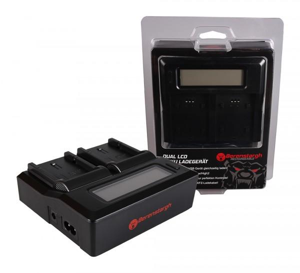 BERENSTARGH Dual LCD USB Charger f. Olympus PS-BLS1 Evolt E400 E400 E400 E-400 E410 E410 E410