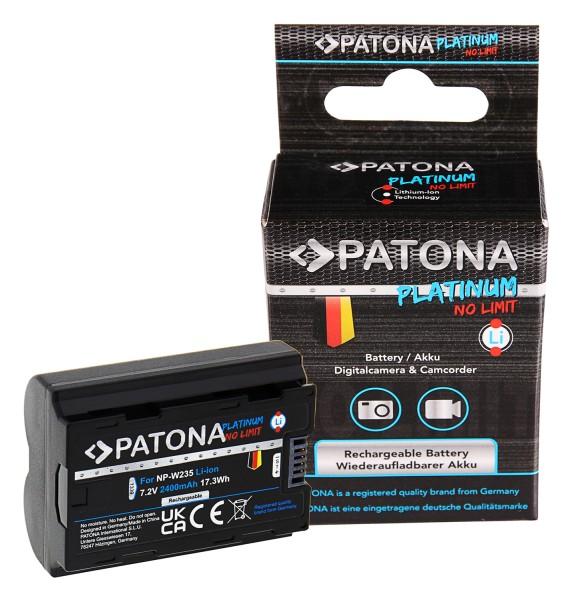 PATONA Platinum Battery f. Fuji FinePix NP-W235 XT-4 XT4 Fujifilm