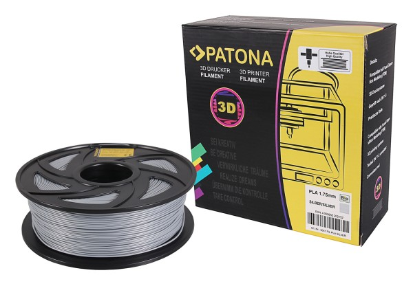 PATONA 1.75mm silver PLA 3D printer Filament
