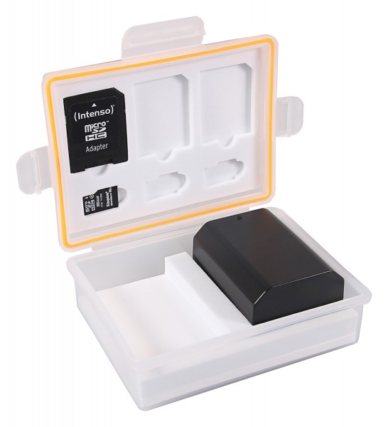 PATONA Aufbewahrungsbox für Akkus und Speicherkarten f. Canon LP-E6 Sony NP-FZ100 Nikon EN-EL15