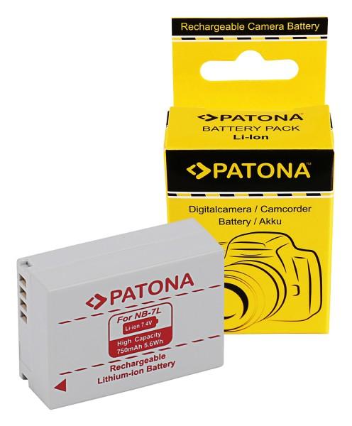 PATONA Akku f. Canon PowerShot G10 G 10 G-10 Canon NB-7L NB7L
