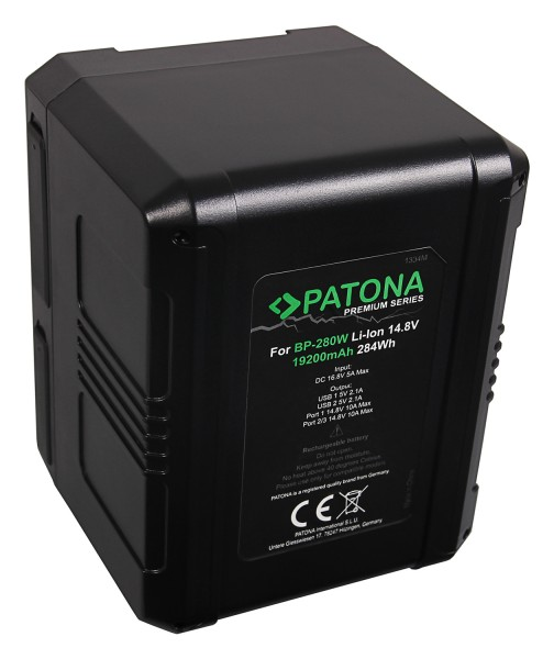 PATONA Premium Battery V-Mount 284Wh f. Sony BP280W DSR 250P 600P 650P 652P