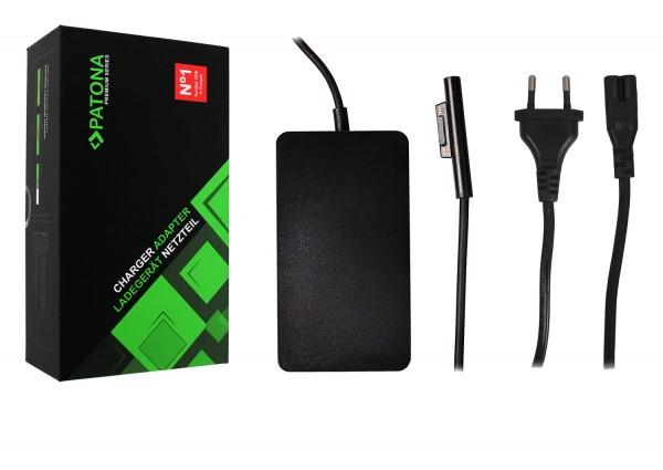 PATONA Premium Netzteil für Surface Pro 6 Pro 5 Pro 4 Modell 1706 Ladekabel Adapter 65W USB Ausgang