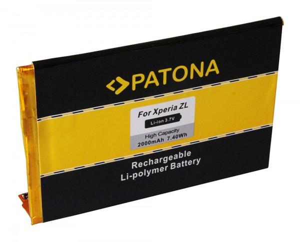 PATONA Batterie pour Sony Ericsson Ericsson Xperia ZL Xperia C6502 C6503 C6506 L35h