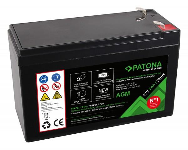 PATONA Premium AGM Lead Battery 12V 7Ah 20HR