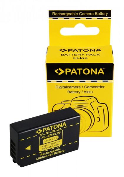 PATONA Batterie pour Nikon EN-EL20 1 A Blackmagic Pocket J1 J-1 J2 J3 S1 V3 V-3