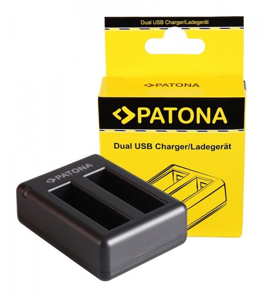 PATONA chargeur double pour Garmin VIRB Ultra 30 GMICP902937 Virb Ultra 30avec câble Micro-USB