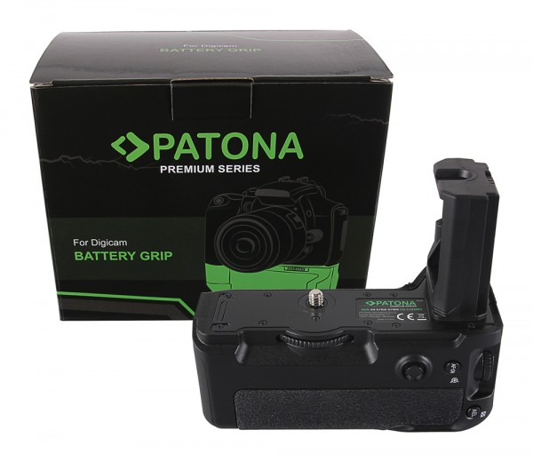 PATONA Premium Battery Grip f. Sony Alpha A7MIII A7RIII A7III A9 VG-C3EM f. 2 x NP-FZ100 batteries incl. IR wireless control