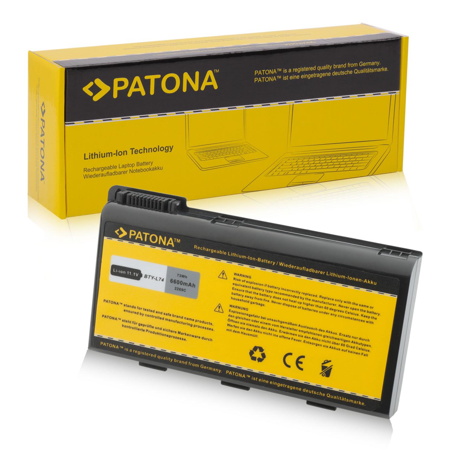 Battery MSI BTY L74 BTY L75 A6200 CR600 CR610 CR620 CX600 A500 6600mAh MSI Standard Batteries LAPTOP