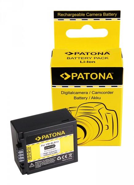 PATONA Akku f. Panasonic DMW-BLB13 DMW-BLB13E DMC-G1 DMC-G1WEG-K