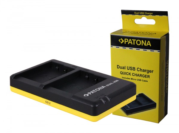 PATONA chargeur double pour Panasonic DMW-BLG10 EOS CSBLG10MC CS-BLG10MC DMWBLG10 DMW-BLG10avec câble Micro-USB