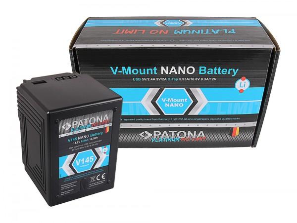 PATONA Platinum Batterie à NANO monture V145 V-Mount 142Wh pour Sony DSR 250P 600P 650P 652P HDW 800P PDW 850 BP-150w RED ARRI