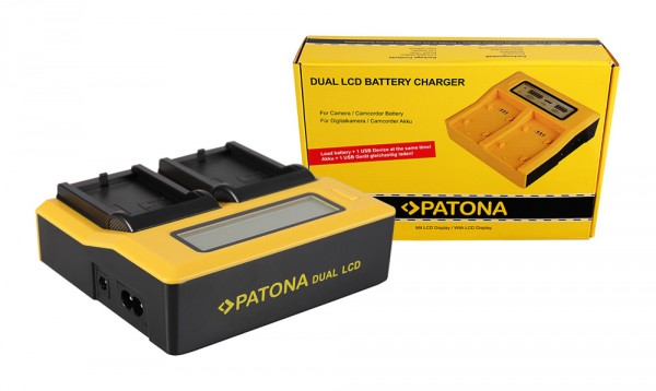 PATONA Dual LCD USB Ladegerät f. Canon LPE5 LP-E5