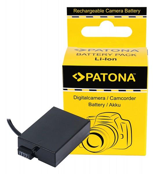 PATONA D-TAP Input Akku-Adapter für Canon EOS 550D 600D 650D 700D LPE8 LP-E8 LP-E8+