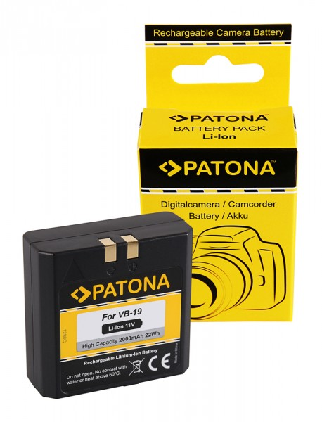 PATONA Battery f. GODOX VB18 VB19 VING V850 Flash V860 Flash