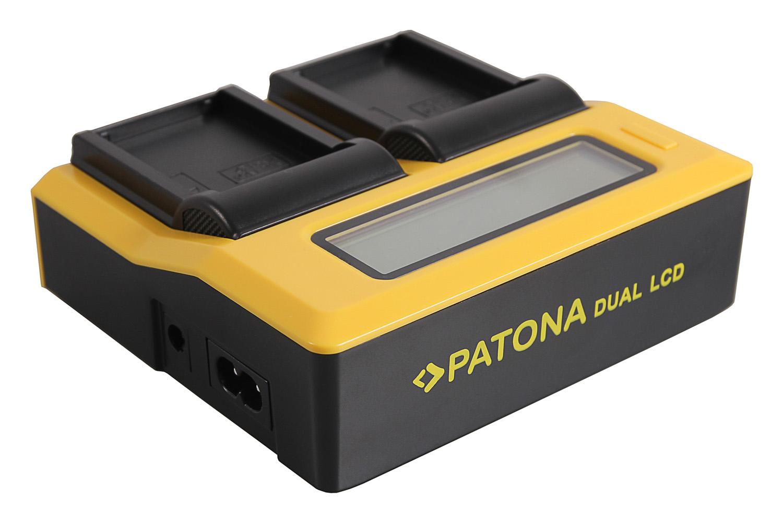 Fujifilm Fuji GFX50S GFX50R NP-T125 PATONA Dual LCD USB Ladegerät f