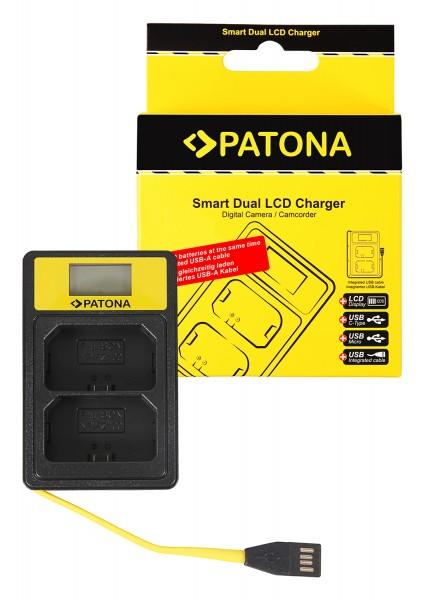 PATONA Smart Dual LCD USB Charger f. Sony NP-FZ100 NPFZ100 A7 III A7M3 Alpha 7 III A7 R III A7RM3 Alpha 7 R III A9 Alpha 9