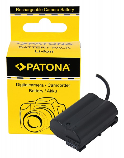 PATONA D-TAP Input Akku-Adapter für Nikon Z5 Z6 Z7 D500 D800 D850 D7000 D7100 D7200 VFB12802 EN-EL15