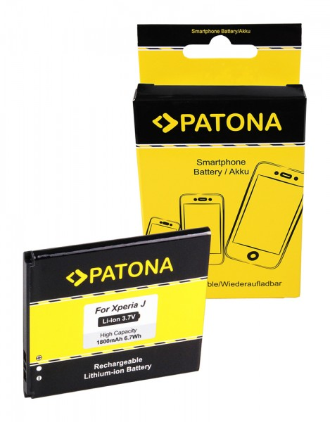 PATONA Akku f. Sony BA900 LT29i ST26i Xperia GX Xperia J Xperia T