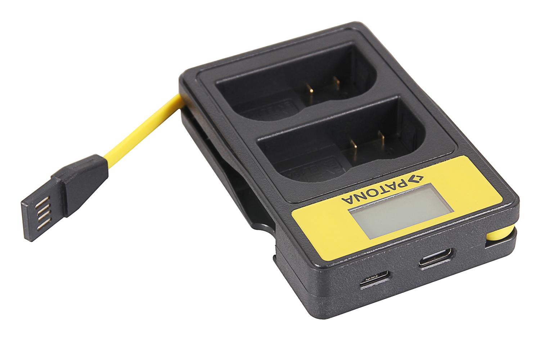 D7000 2x Premium Battery for Nikon V1 PATONA Dual Quick