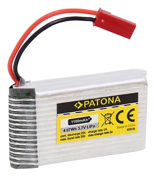PATONA RC Battery 3,7V 1100mAh JST Li-Polymer für Walkera Dragonfly, HM 5G4