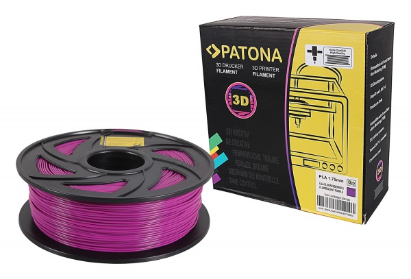 3D Printer Filament PLA 1.75mm 1kg fluorescent purple