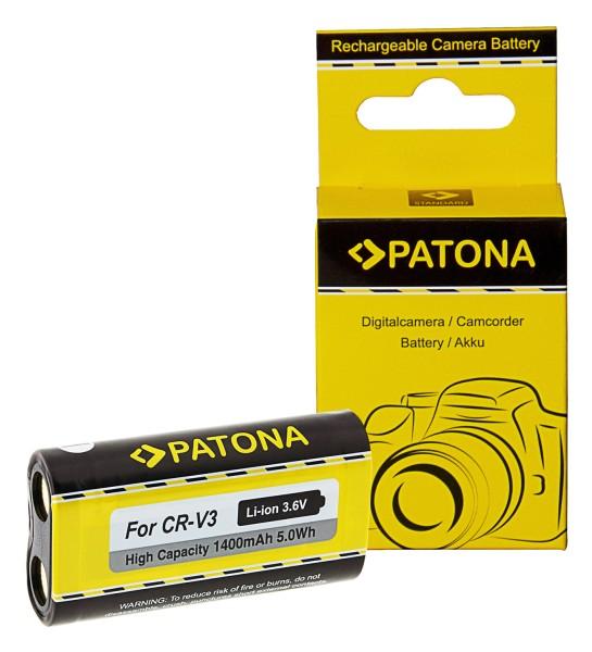 PATONA Akku f. Kodak RCR-V3-Li-Ion CR-V3 CRV3,CR-V3P/LB01