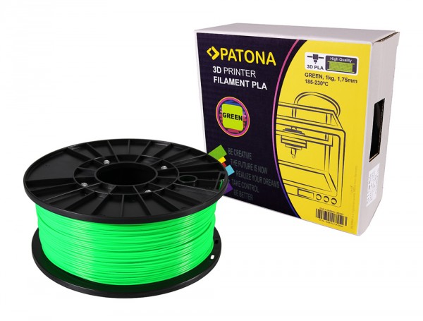 PATONA 1.75mm green PLA 3D printer Filament