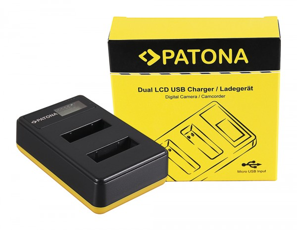 PATONA Dual LCD USB Charger f. Sony NP-BX1 BX BX1 NP-BX1 Cybershot DSC HX300 DSC HX50V DSC RX1