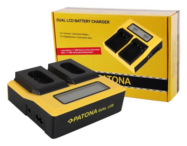 PATONA Dual LCD USB Charger for Panasonic DMW-BLJ31 Lumix DC-S1 DC-S1R DC-S1H
