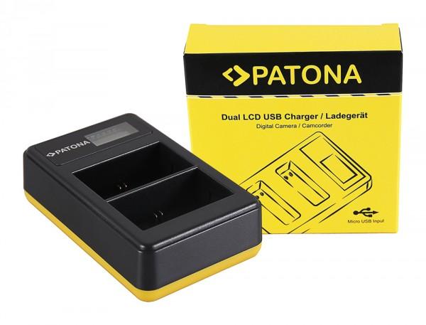 PATONA Dual LCD USB Charger f. Canon LP-E6 5D 60D 60Da 6D 7D EOS-70D