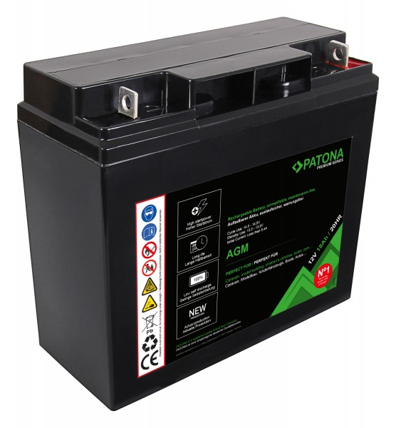 PATONA Premium AGM Lead Battery 12V 18Ah 20HR