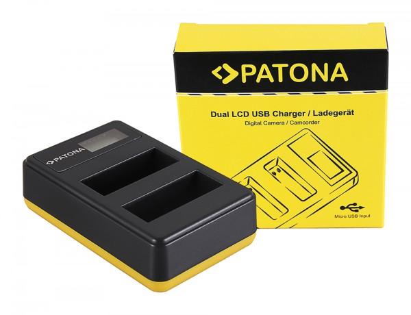 PATONA Dual LCD USB Chargeur pour Nikon EN-EL14 CoolPix D3100 D3200 D5100 D5200 P7000 P7100 P7700