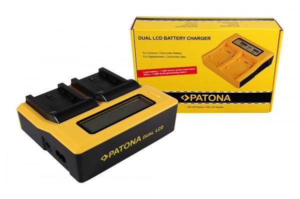 PATONA Dual LCD USB Ladegerät f. Samsung IA-BP210E HMX HMXH203 HMX-H203 IA-BP210E SMX SMXF40
