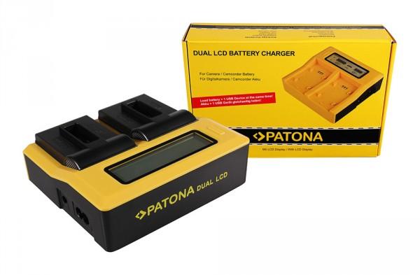 PATONA Dual LCD USB Ladegerät f. GoPro Hero 8 AHDBT-801 Hero 7 AHDBT-701 Hero 6 Hero 5 AHDBT-501