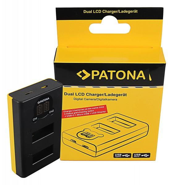PATONA Dual LCD USB Ladegerät f. GoPro Max SPCC1B