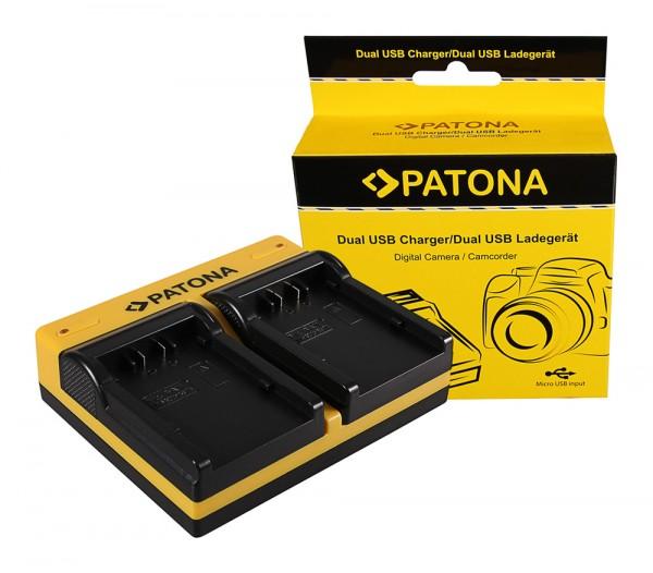 PATONA Dual Ladegerät f. Panasonic VW-VBD26 VBD58 VBD78 AGAC8EJ AG-AC8EJ AjHPX270 inkl. Micro-USB Ka