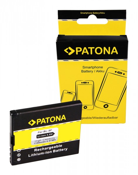 PATONA Batterie pour Nokia N95 6290 6210 Navigator 6210S 6710 Navigator E65 N93i N95