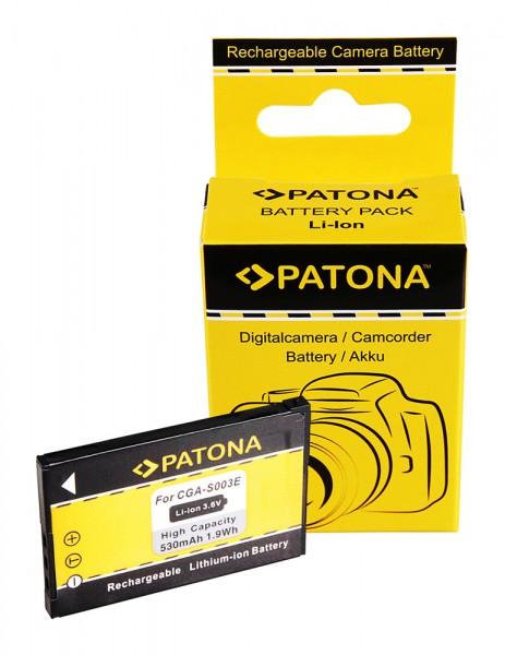 PATONA Akku f. Panasonic CGA-S003E SA-SA30 SV-AS10 SV-AV50 SV-AV50A SV-AV50S
