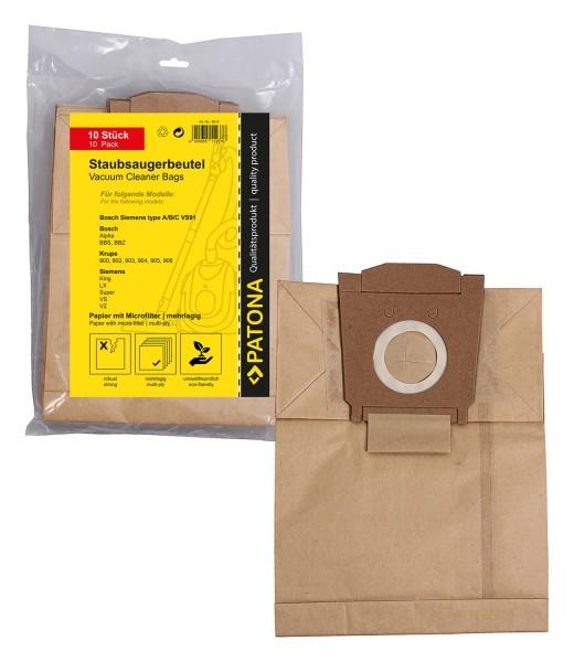 10x Staubsaugerbeutel Papier für Bosch BBZ 4 AF 1 Bosch BBZ 4 AF 2