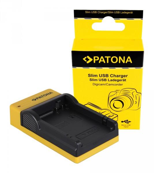 PATONA Slim Micro-USB Ladegerät f. Canon LP-E8, LPE8, EOS 550D, 600D, 650D, 700D