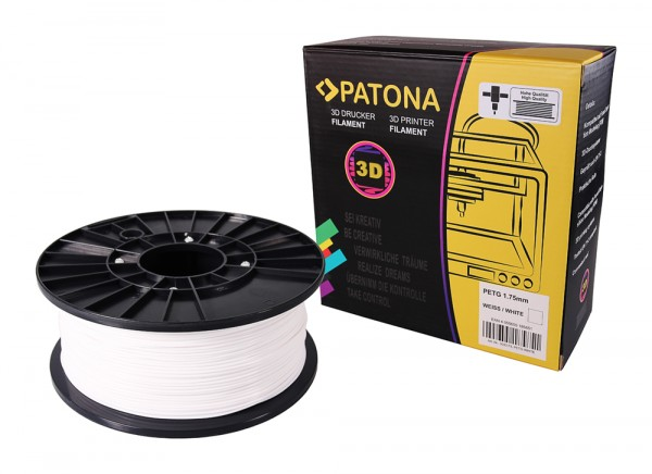 PATONA 1.75mm white PETG 3D printer Filament