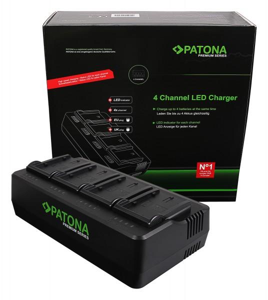 PATONA Premium 4-fold Charger for Panasonic VW-VBD29 VW-VBD58 VW-VBD78 AJ-PX298MC HDC-MDH2GK AJ-HPX270
